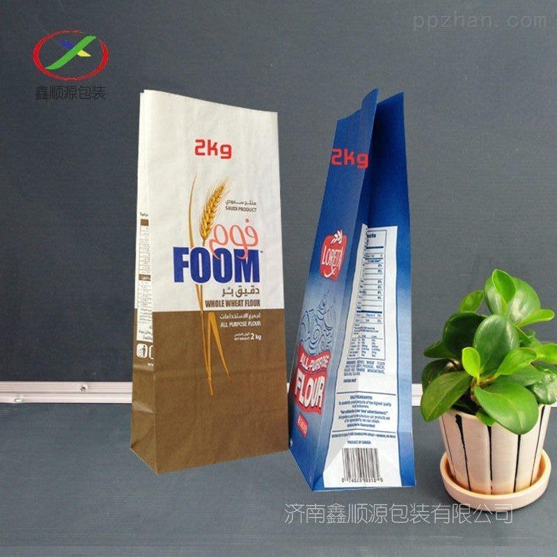 厂家生产定制优质面粉袋 石磨面粉袋 杂粮包装袋 牛皮纸面粉袋子